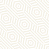 Vector Seamless Pattern. Repeating Lattice Abstract Background. Linear Grid From Striped Hexagonal Elements.