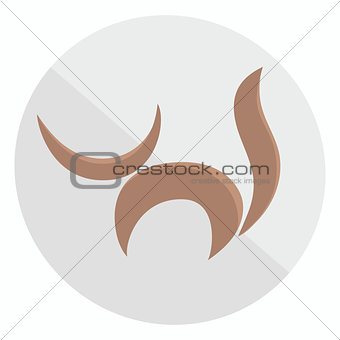 Flat cat icon