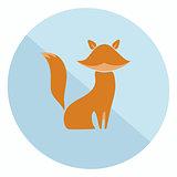 Flat fox icon