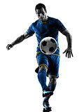 soccer player man silhouette isolated