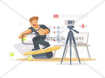 Blogger shoots video