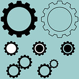 The black different simple gear.