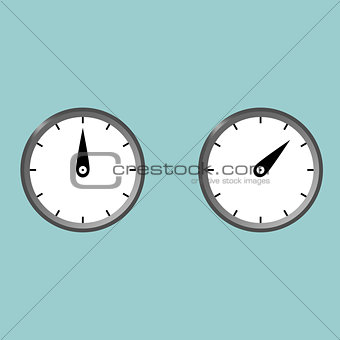Black clock watcher timer with gradint colour.
