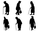 Elder women silhouettes