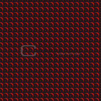 Tile black and red vector pattern