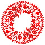 Red vector wreath isolated on white background