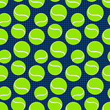 seamless sport pattern with tennis balls. vector