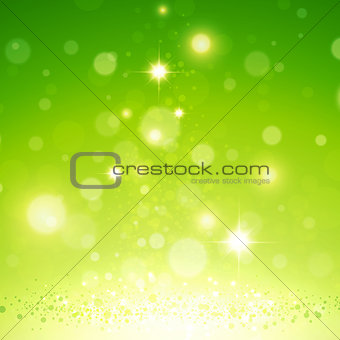 Abstract Natural Green Magic Background