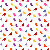 Birds. seamless baby background with colour birds.