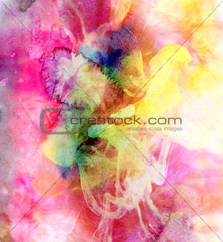 Abstract watercolor multicolored background