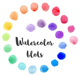 Set of vector watercolor blots