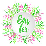 Floral card for Easter