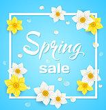 Spring blue background