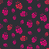Raspberry pink on purple seamless pattern.