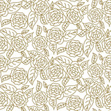 Floral rose wedding seamless vector pattern.