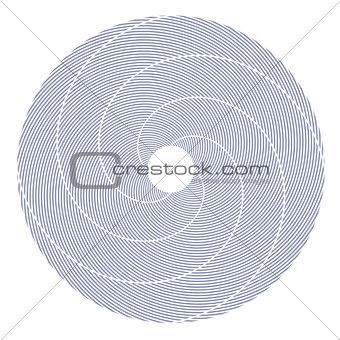 Circle design element.