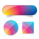 Colorful button vector