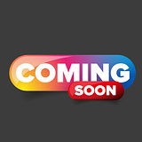 Coming Soon rainbow button vector