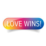 Love wins - Lgbt rainbow button