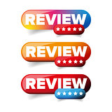 Review Star button vector
