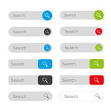 Search icon button set
