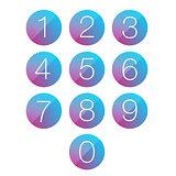 Number set circle