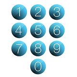 Number set button