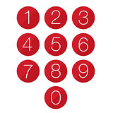 Number set button