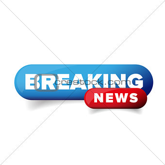 Breaking News logo vector