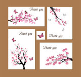 vector thank you cards