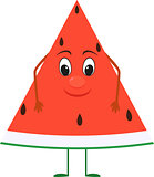 cute cartoon Watermelon with face.