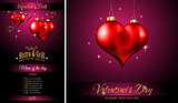 Valentine's Day Restaurant Menu Template Background
