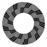 Circle design element. Op art pattern.