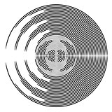 Abstract circle design element.