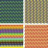 Four different geometric patterns