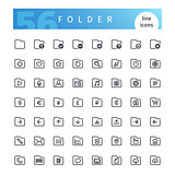 Folder Line Icons Set