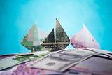 ship origami banknotes