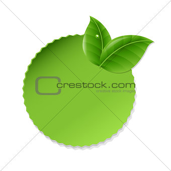 Green Leaves With Label