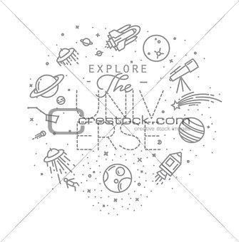 Flat explore universe monogram