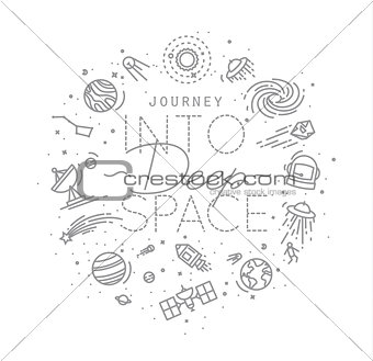 Flat deep space monogram
