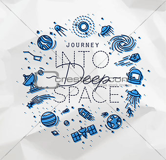 Flat deep space monogram crumpled