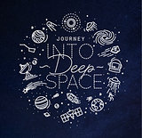 Flat deep space monogram blue