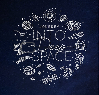 Flat deep space monogram blue