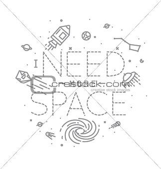 Flat more space monogram