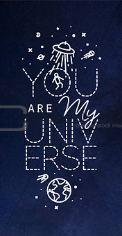 Poster my universe blue