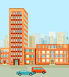 Buildings in the city illustration