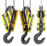 Set of crane hooks