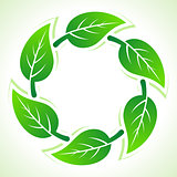 Recycle icon make by the leaf