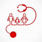 Stethoscope make family icon