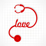 Stethoscope make love word